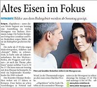 """Presseveröffentlichung der Westdeutschen Zeitung über Ausstellung """"Abgefahren"""""""